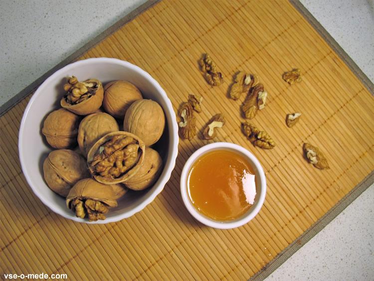 Мёд и орехи для мужчин как принимать